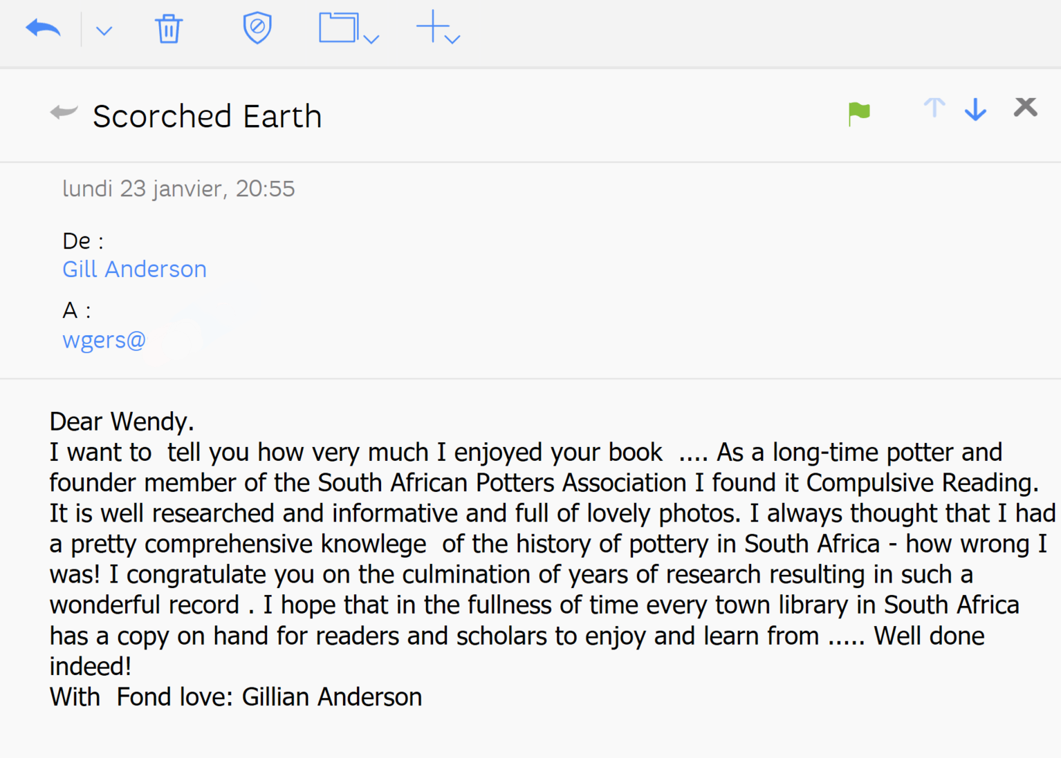 Scorched Earth - review - Gill Anderson