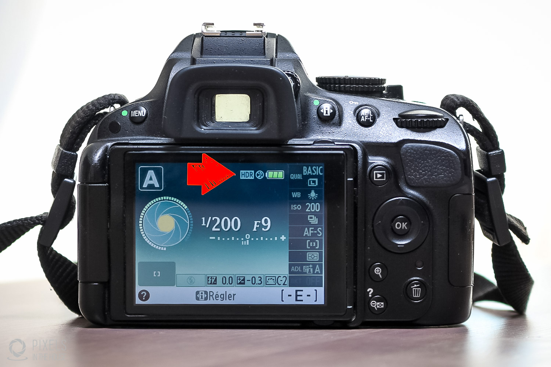 """Étape 5 : En sortant du menu, vous remarquerez quele mode """"HDR"""" est actif lorsque icône se trouve sur l'écran. Remarque : malheureusement, il est nécessaire de ré-activer le HDR après chaque photo."""