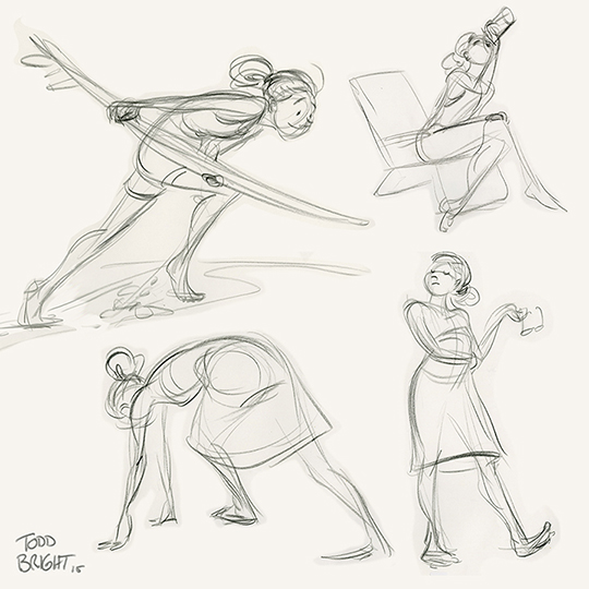 a few poses from a 'beach day' theme Gesture Drawing Workshop hosted at WDI.