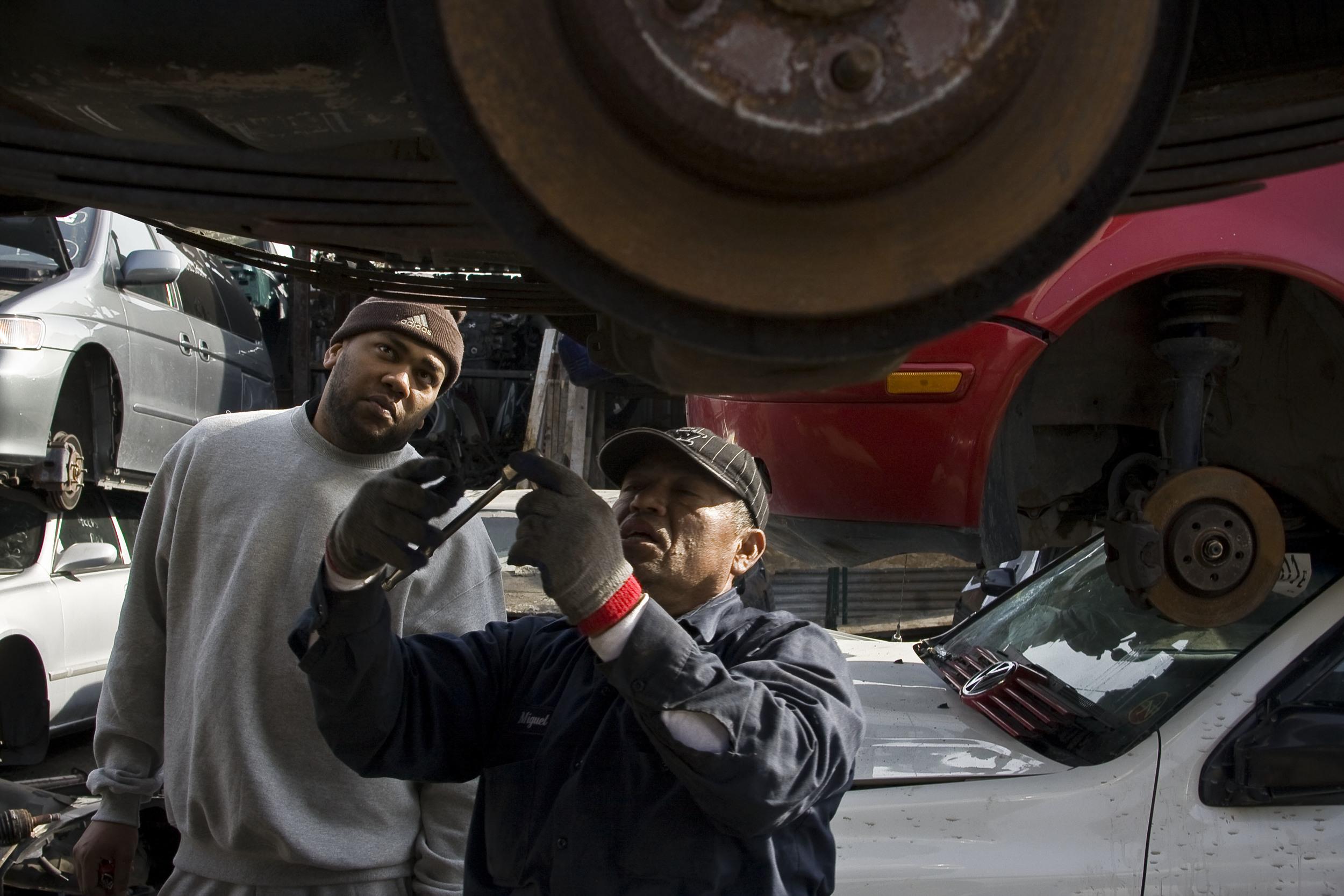 Auto body workers. David Auto Wreckers, 2011.