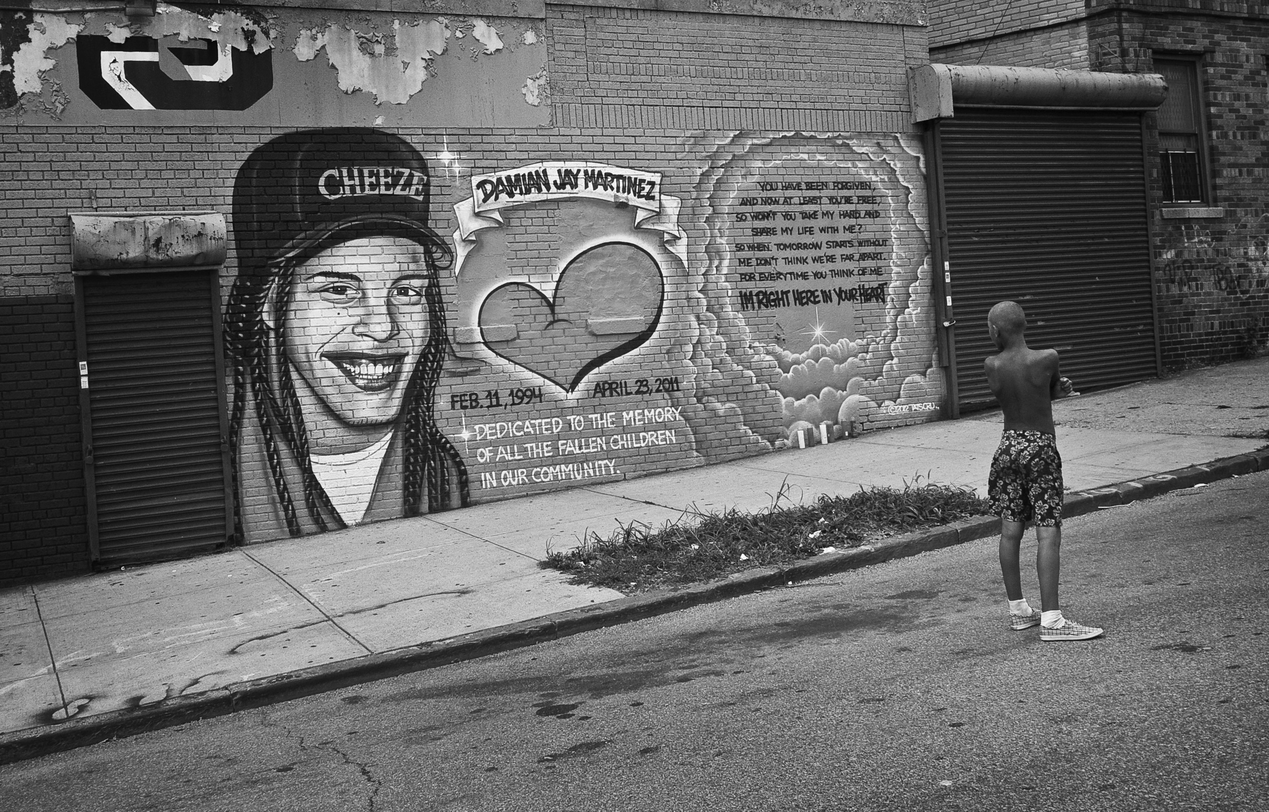 """Damien """"CHEEZE"""" Martinez Mural. Hunts Point, the Bronx, NYC. August 2012."""