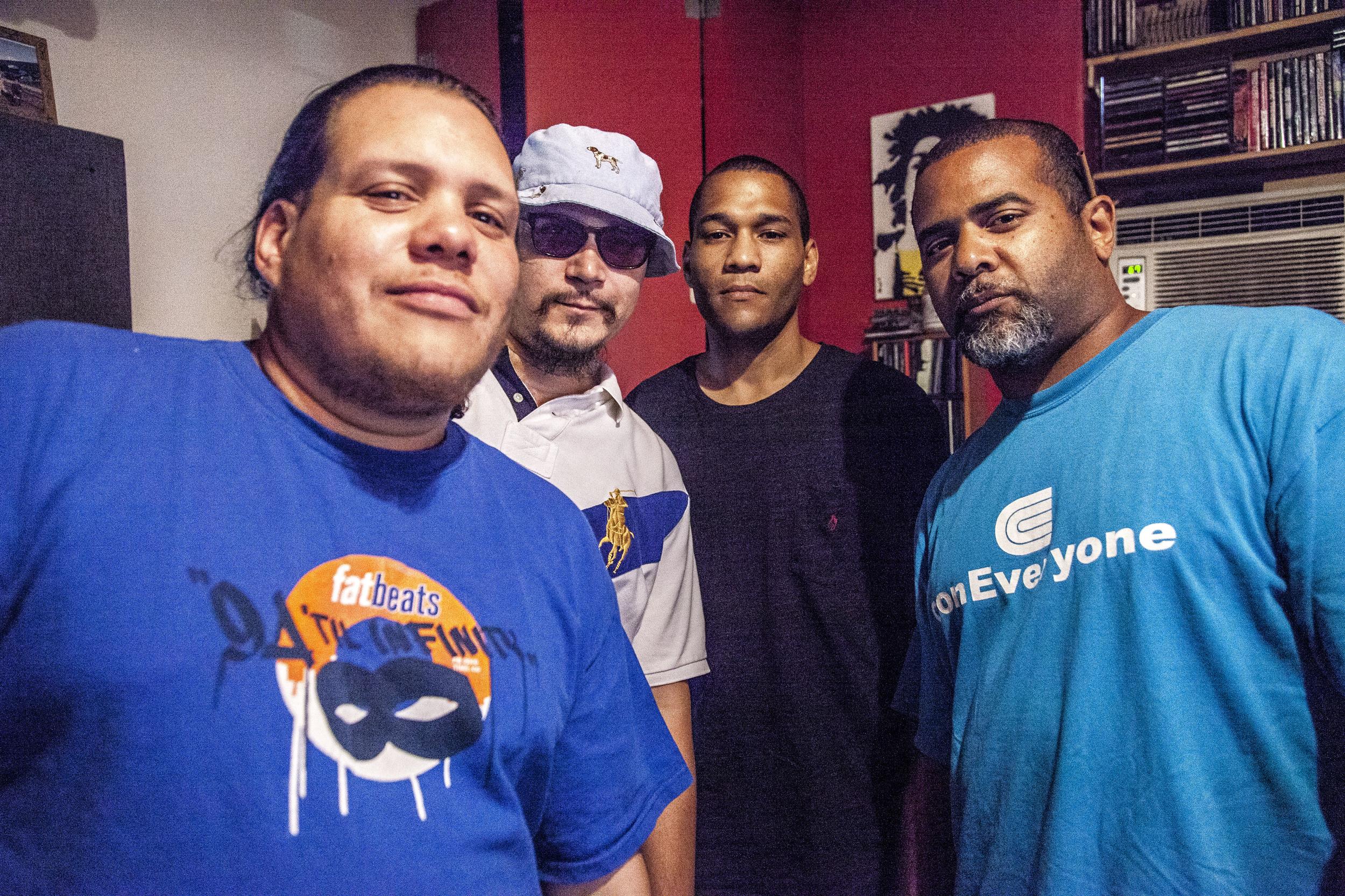 Guerrilla Grooves Radio. Rhinoceros Funk, Julz Money, Miggz & DJ FredOnes. TME Pro Studios. Bronx, NYC. August 2015.