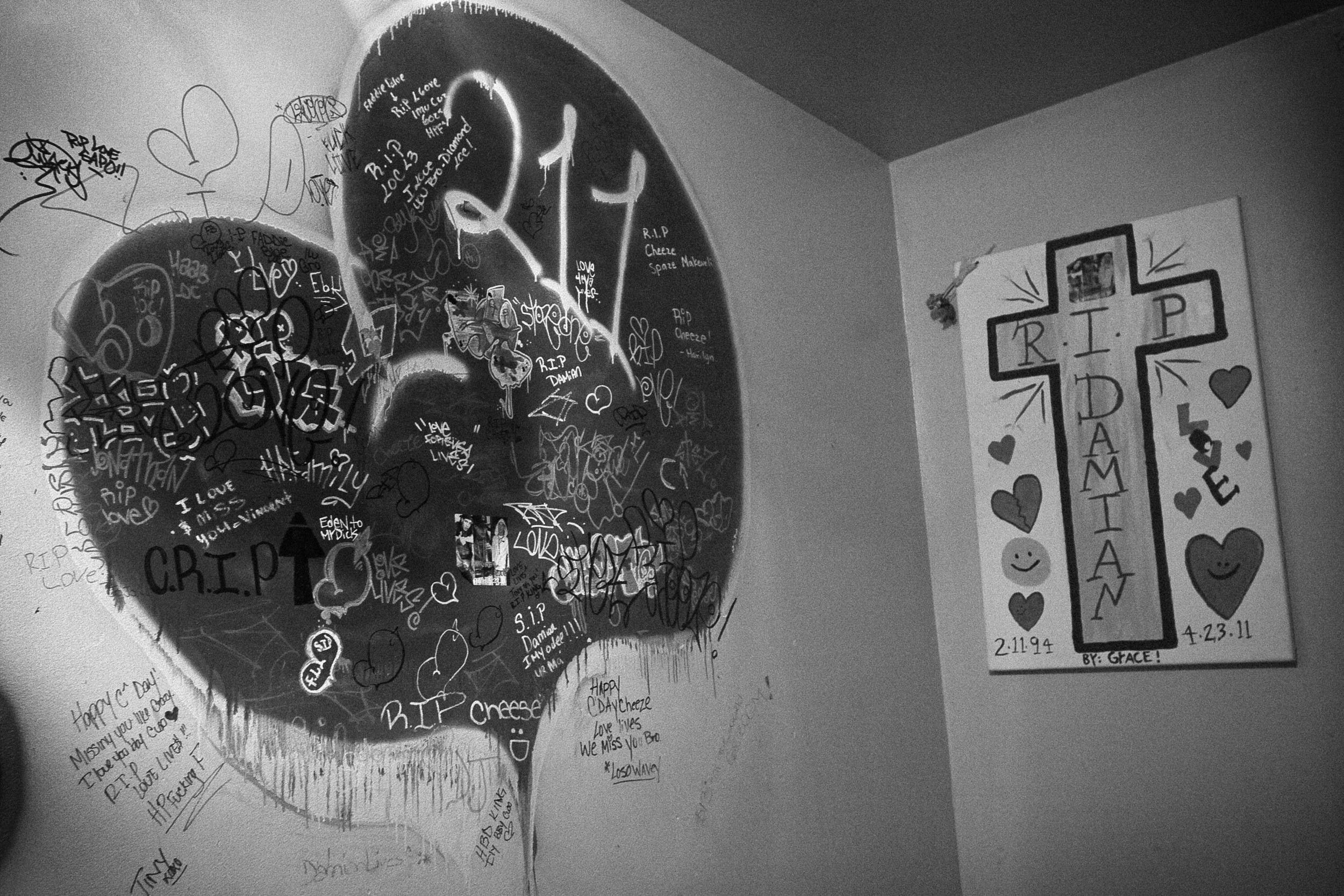 LOVE LIVES. Original LOVE Tag in Tim's House. Hunts Point, the Bronx, NYC. August 2012.