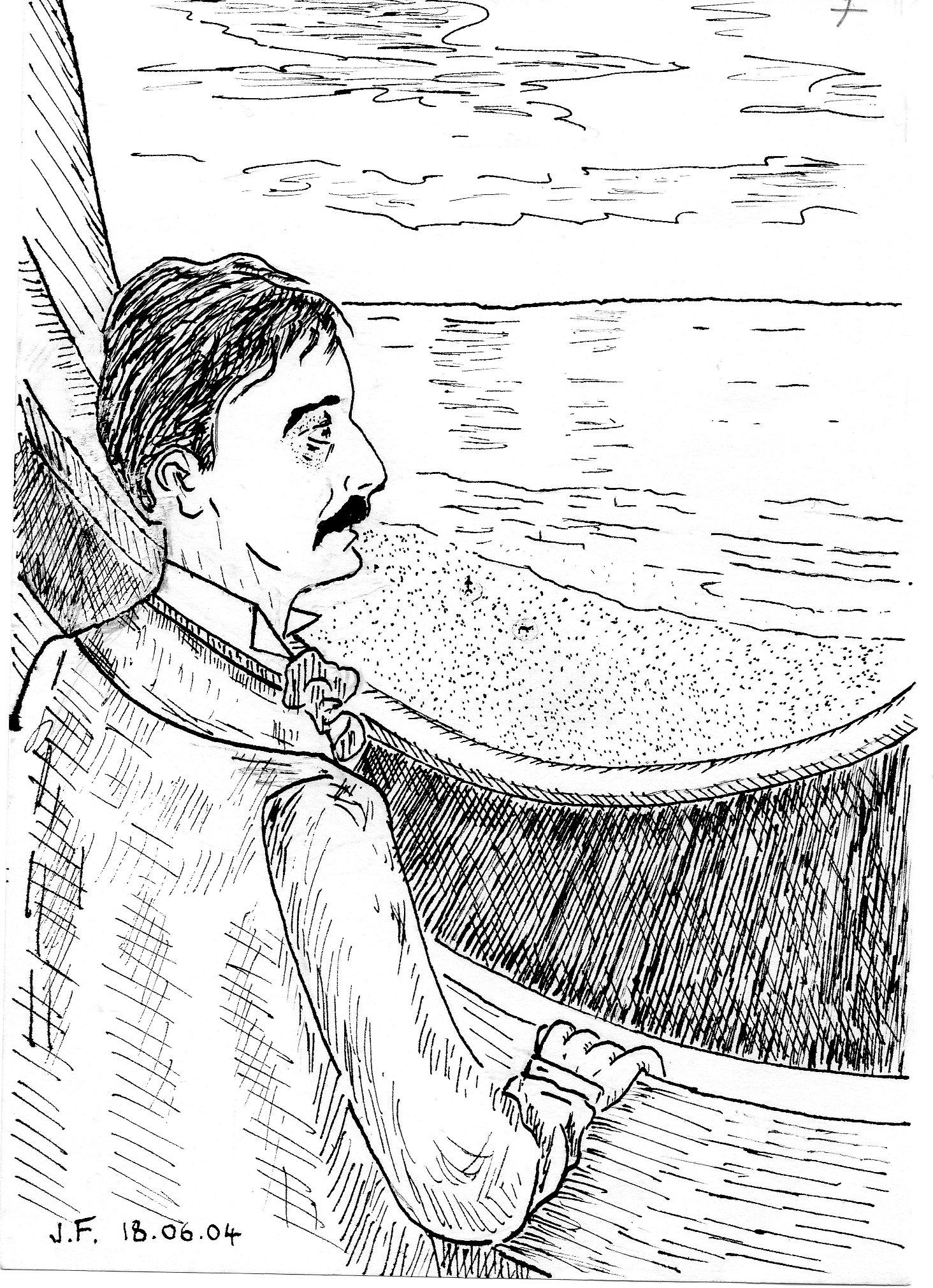 7-Marcel...regard sur la mer du 4ième étage du Grand Hôtel de Cabourg.jpg