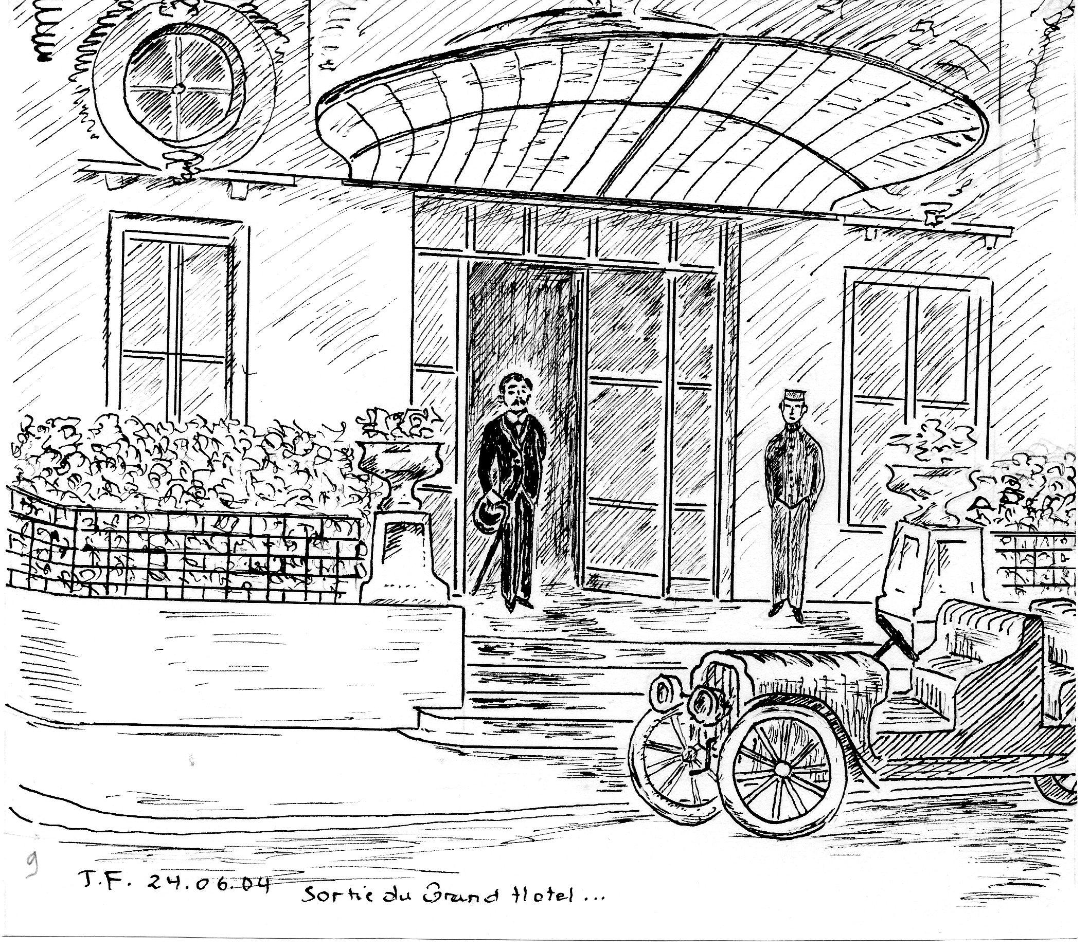 9-Marcel sort du Grand Hôtel de Cabourg côté ''Jardins du Casino''.jpg