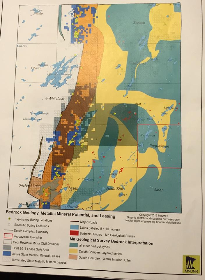 Yellow dots indicate areas drilled the orange strip is the area deposits of precious metals are more commonly found.