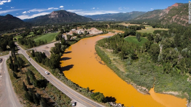 Photo Credit Ian Lucier Animas River toxic spill.