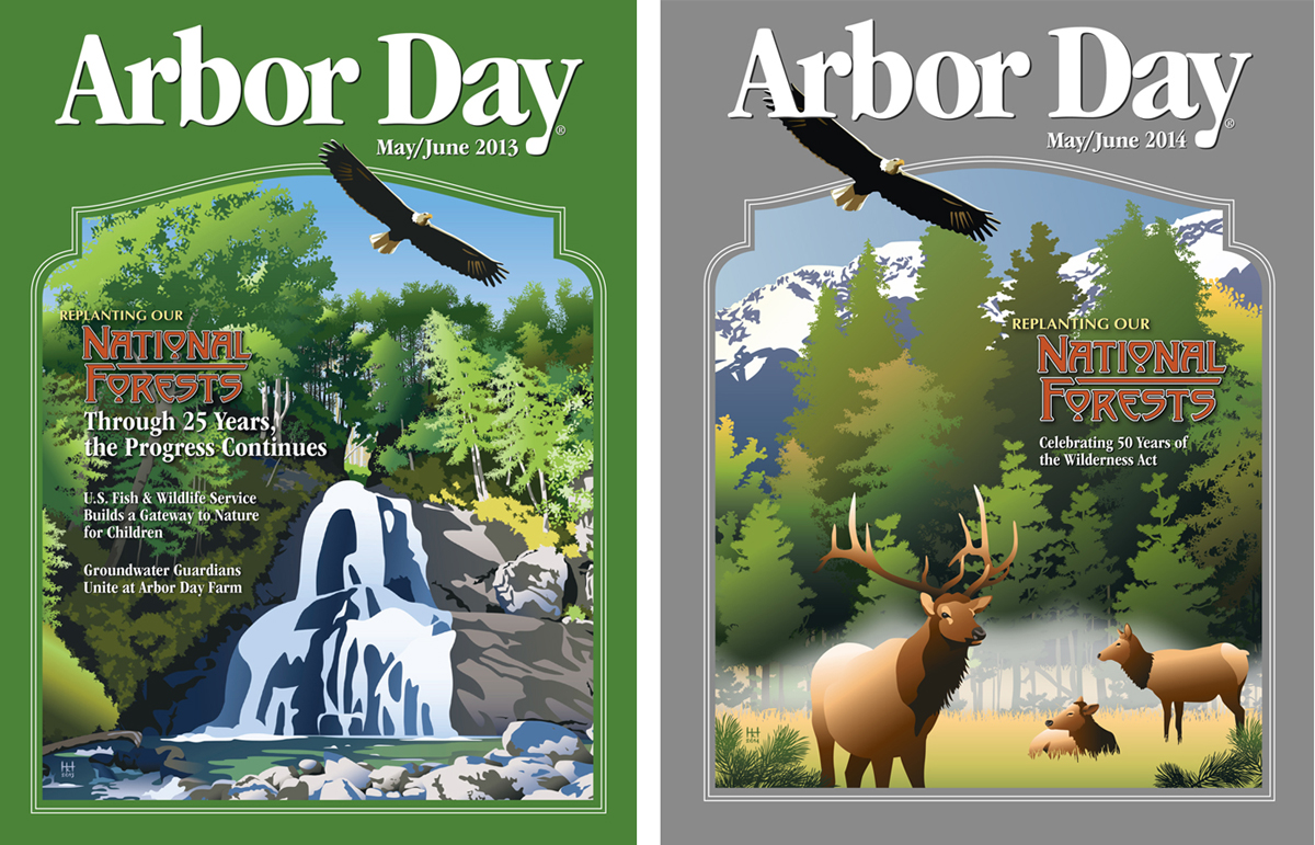 Arbor Day Newsletter Covers