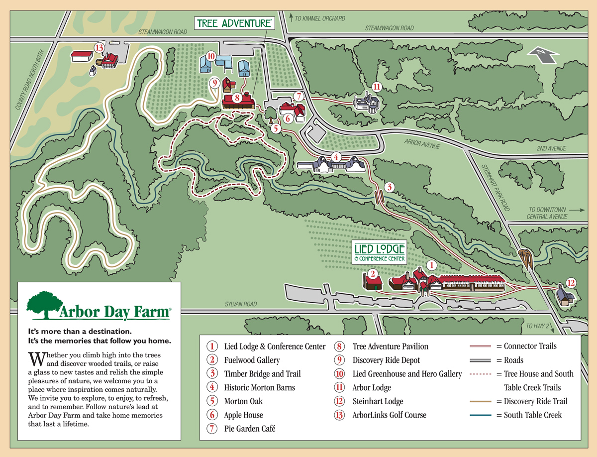 Arbor Day Farm Property Map