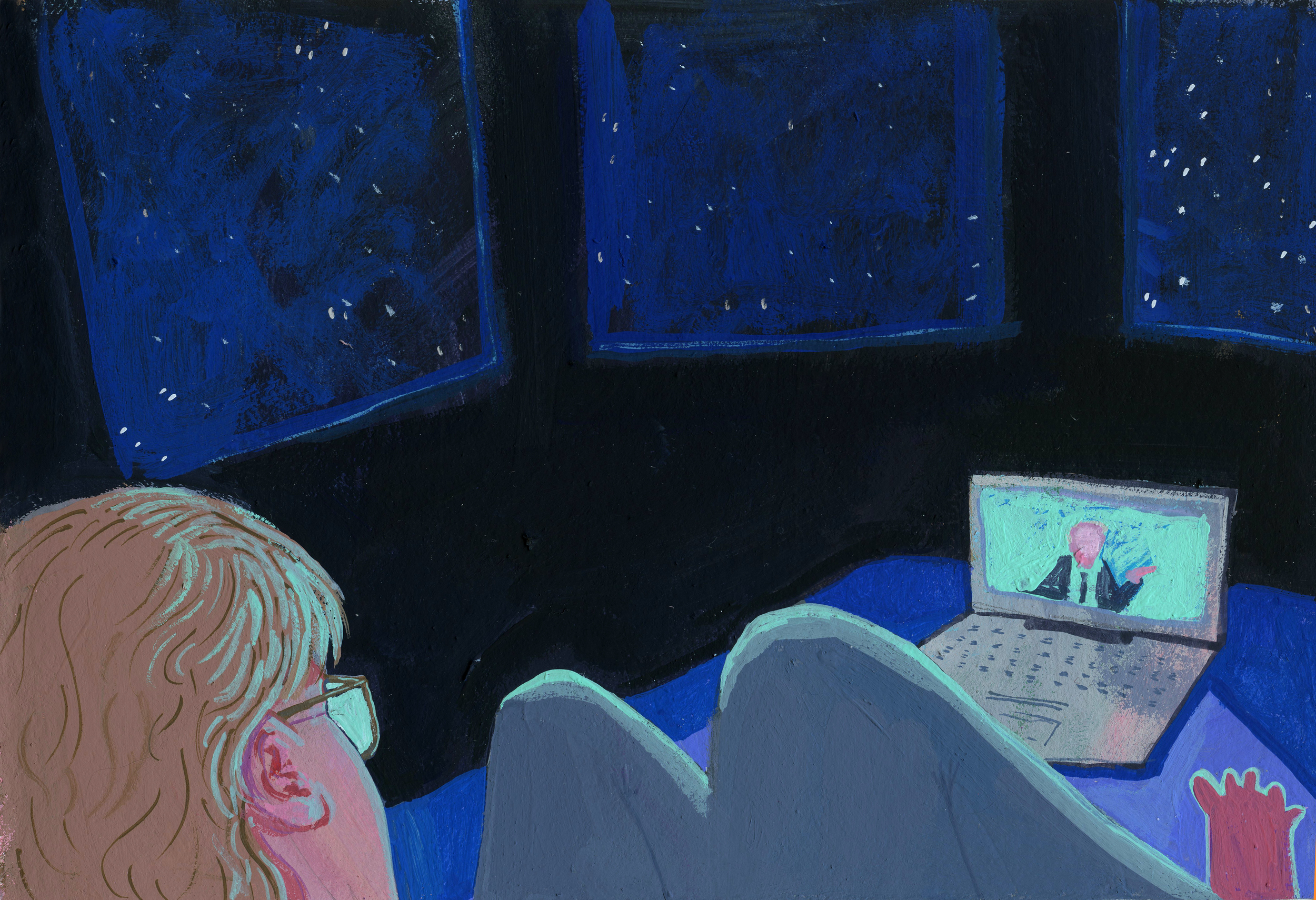 Watching the debate alone and in the dark like a scary movie