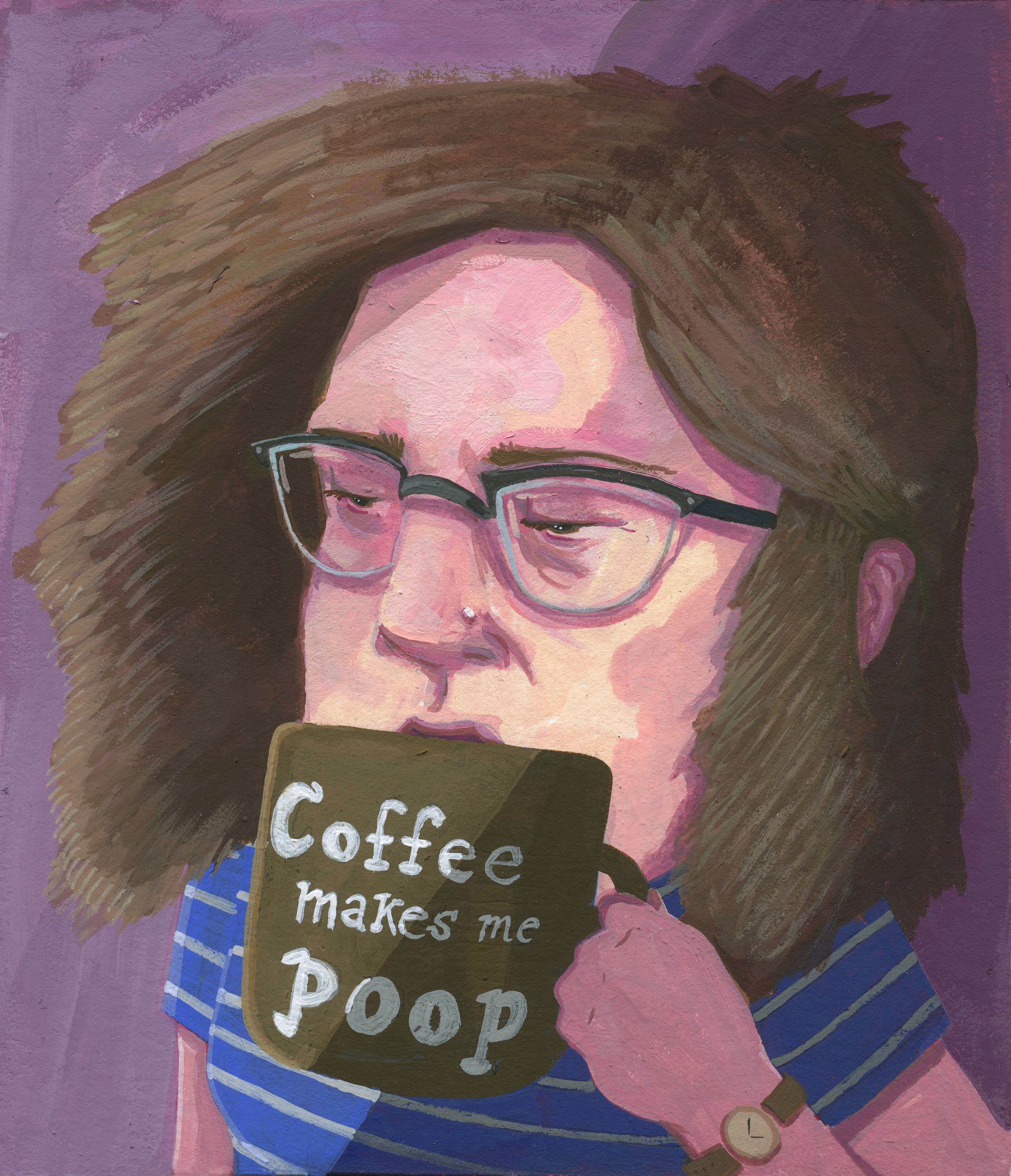 I hate this ubiquitous mug so I made a painting about it