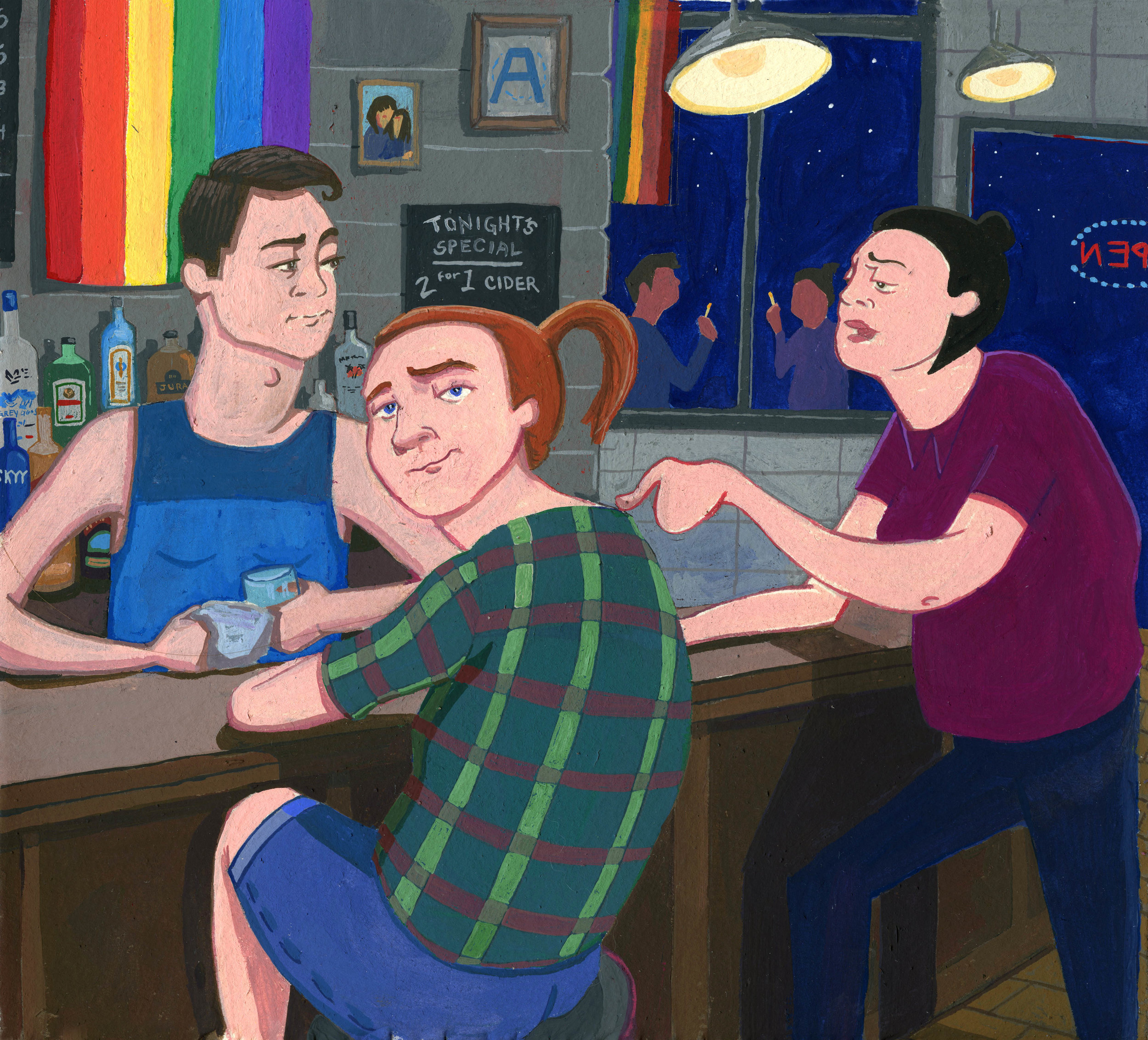Scenes from your friendly neighborhood gay bar