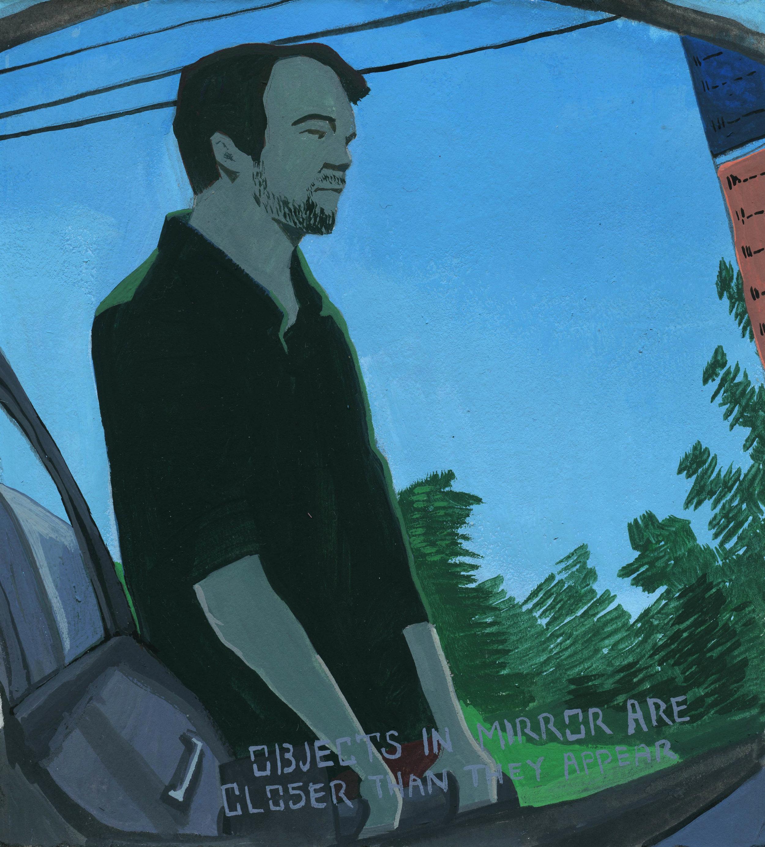 Sam at a gas pump
