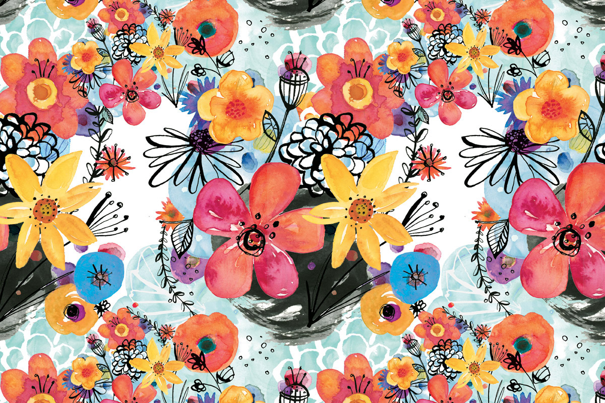 Floral and Ink, Joann Fabrics