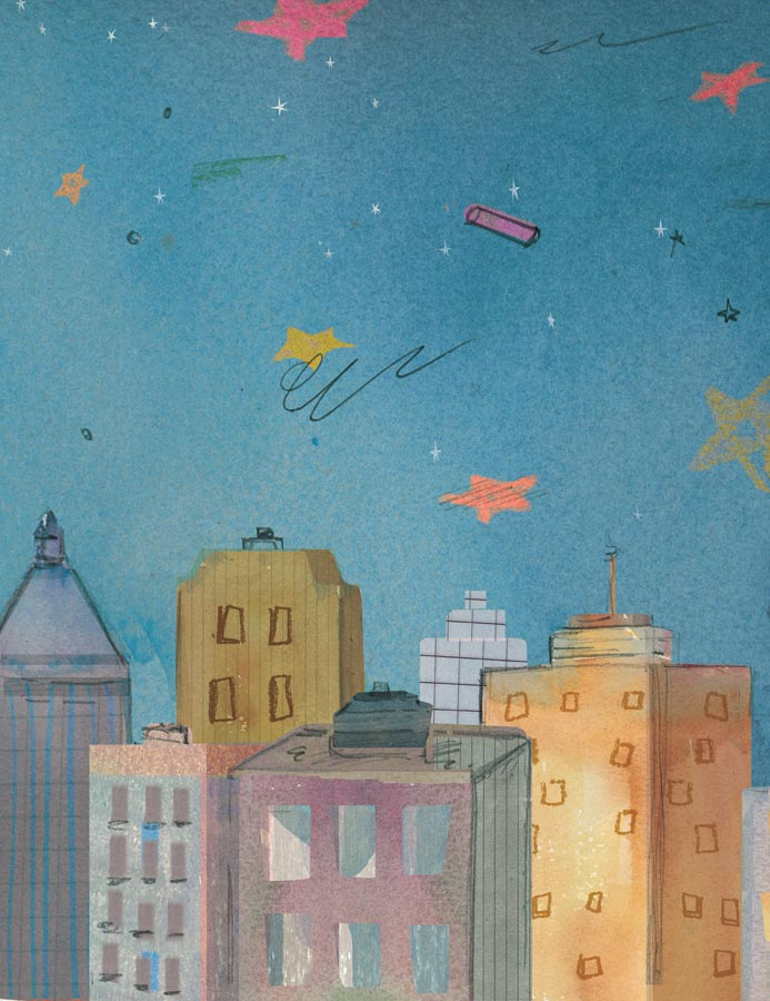 Bright Sky, Starry City Cover Back Cover, Groundwood Books