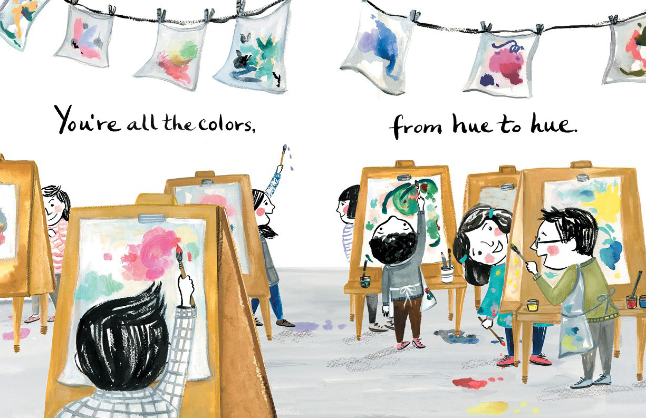 Selected spreads from I Feel Teal (published by Simon and Schuster Summer 2018)