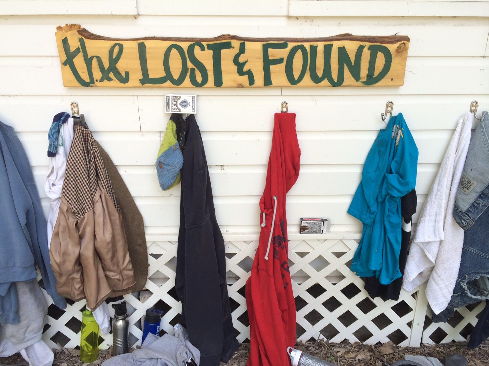 New and improved lost and found area!
