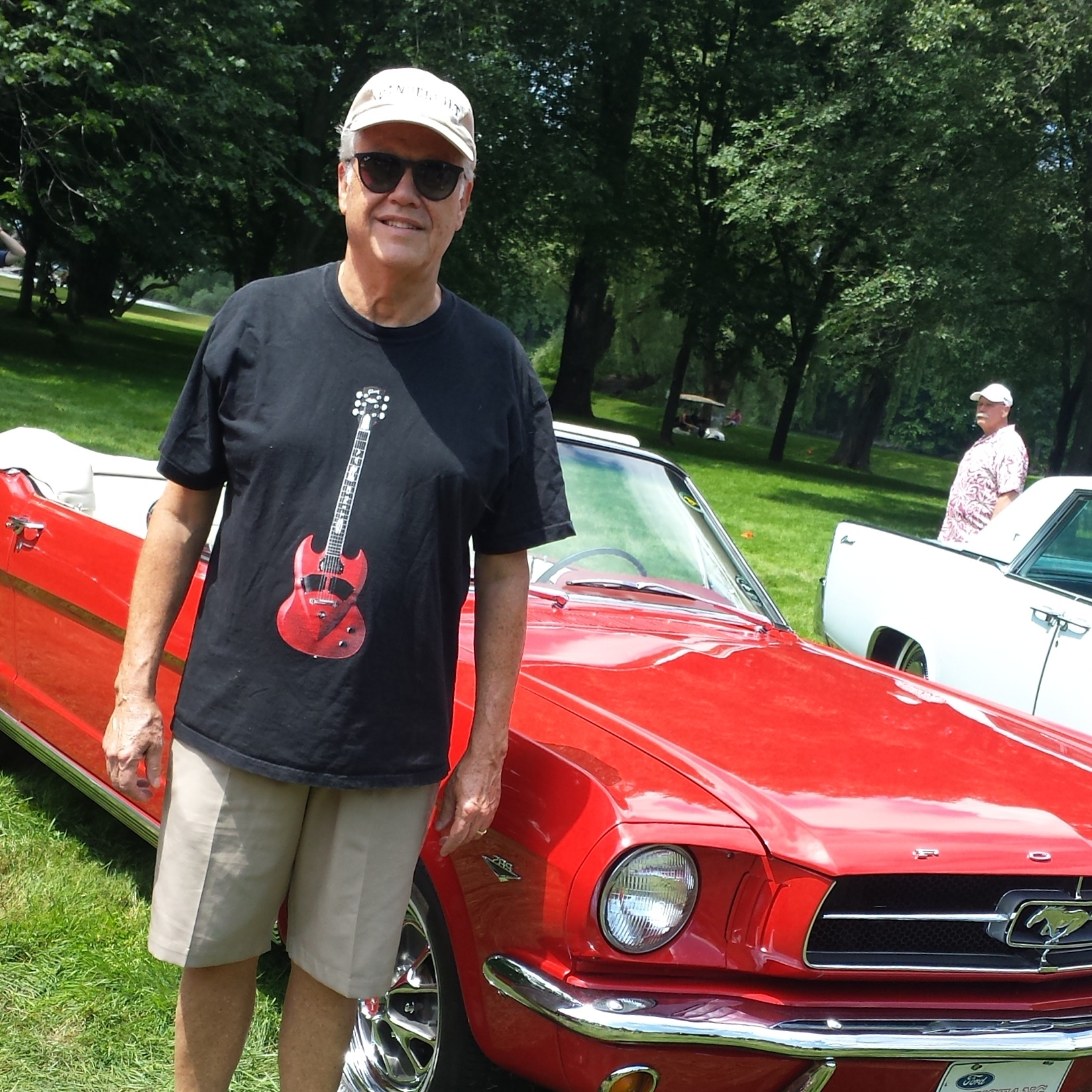 With Dad @ classic car show before camp!