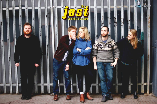 """'Stars of BBC Radio 4's Sketchorama and New Act's of the Year Show Finalists 2015, The Jest are a subversive sketch comedy quintet. Expect seemingly innocent observational sketches with dark twists. And Maggie Smith. """"Energetic, ridiculously funny sketches delivered at break-neck speed"""" Everything Theatre.'"""