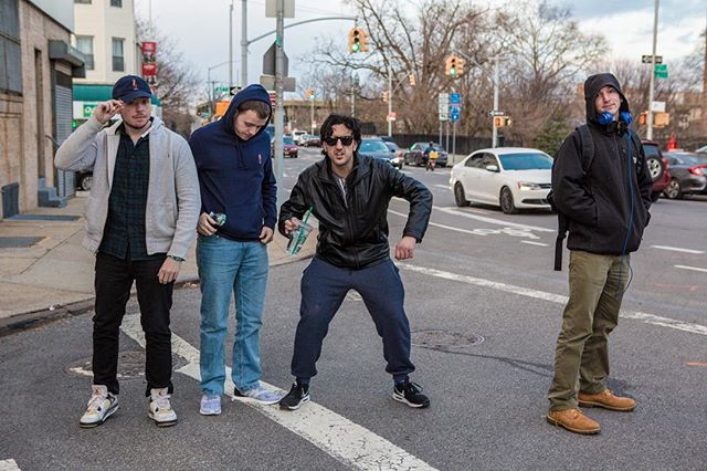 The goons on the streets of Brooklyn on the way to the show 💰