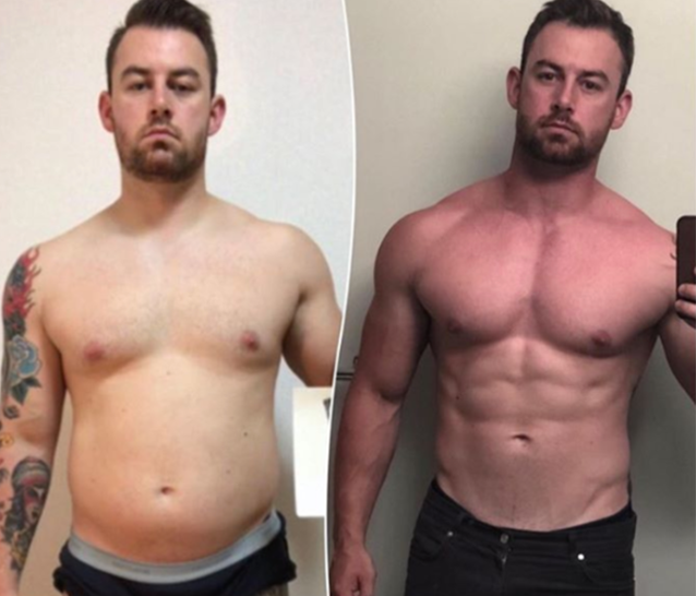 In my first pic I was 213lbs and tonight I checked in at 179lbs right after cruising through a 295lb bench press (my PR). Never underestimate the value in good help. These past few months have been focused and guided by Josh to nail down some big changes in strength, size and aesthetics.  - Cam M