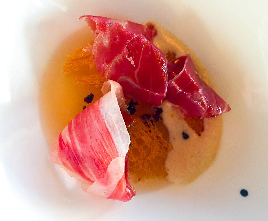 2nd Course- Iberico ham with Fermented Gelee, 6/10
