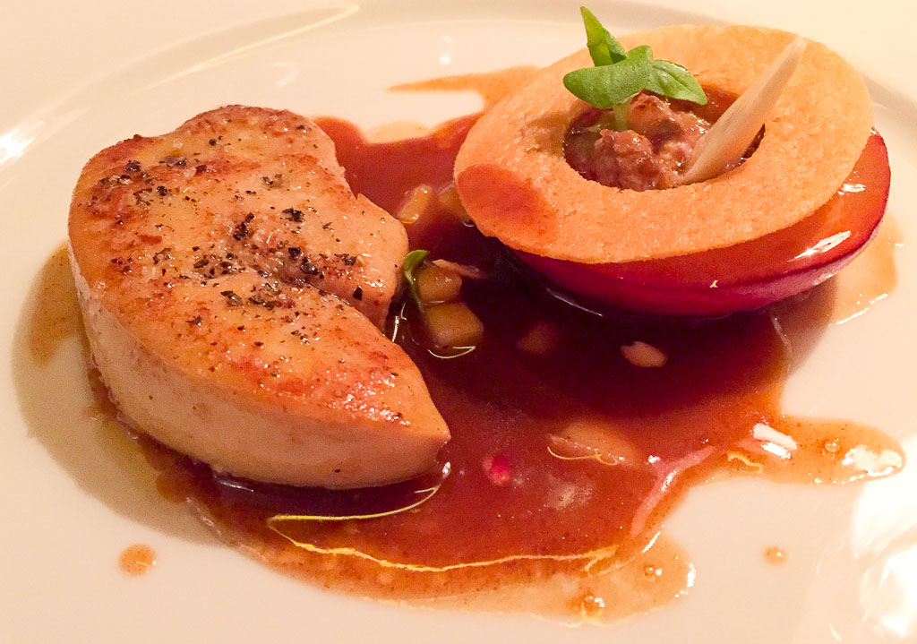 2nd Course: Foie Gras + Peach, 9/10