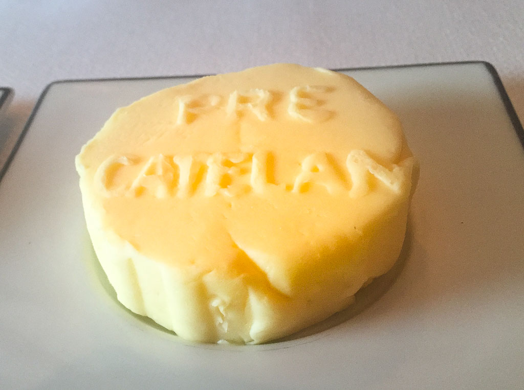 Can you guess where this butter was served?