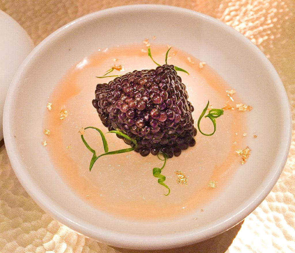 First Bites: Caviar + Winter Melon + Chicken Cream, 10/10