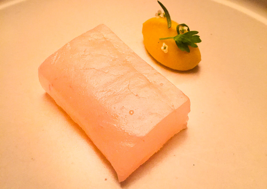 5th Course: Halibut + Squash, 7/10