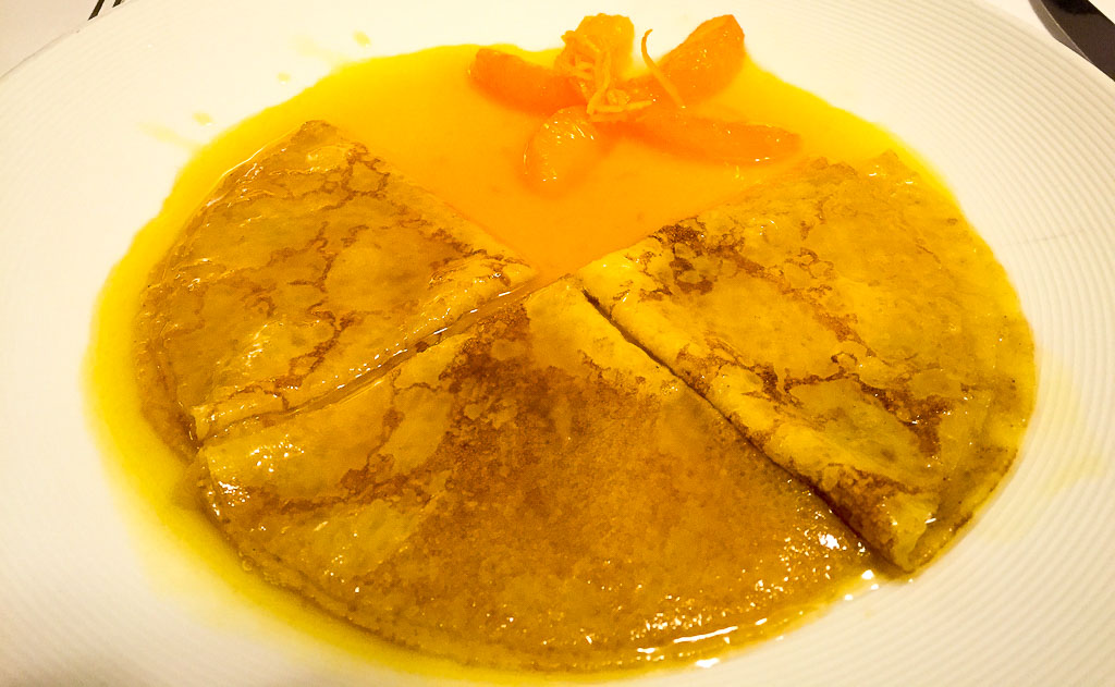8th Course: Crêpes Suzette, 9/10