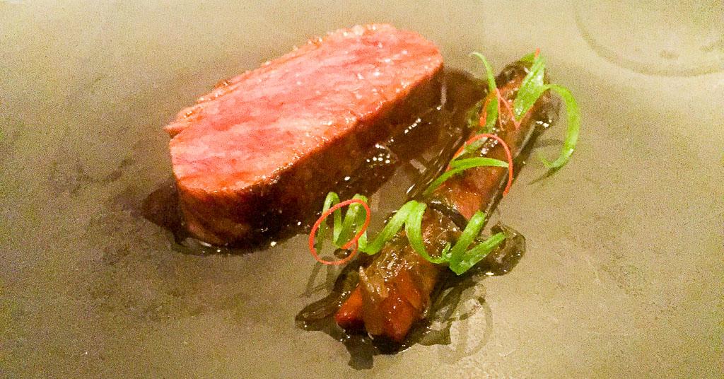 7th Course: Beef + Burdock + Wood Ear Mushroom, 10/10
