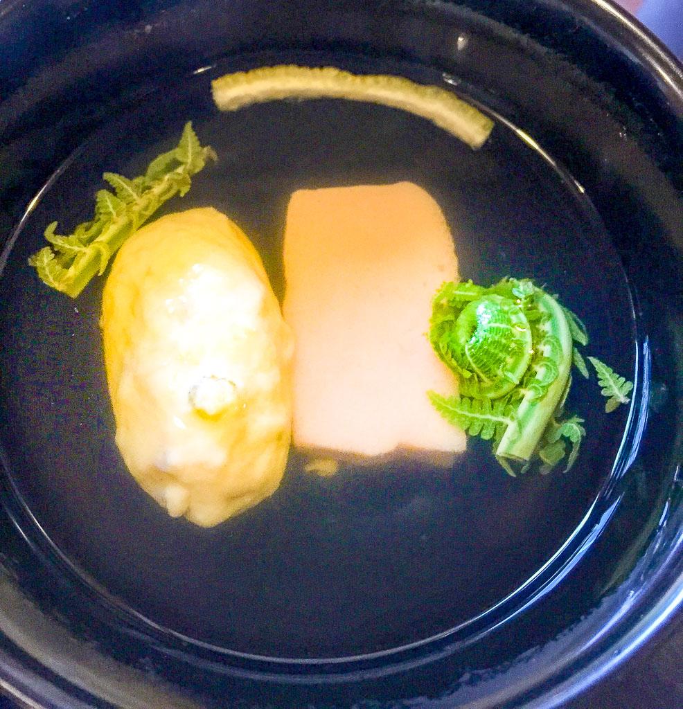 Course 5: Fiddlehead Fern Soup, 9/10