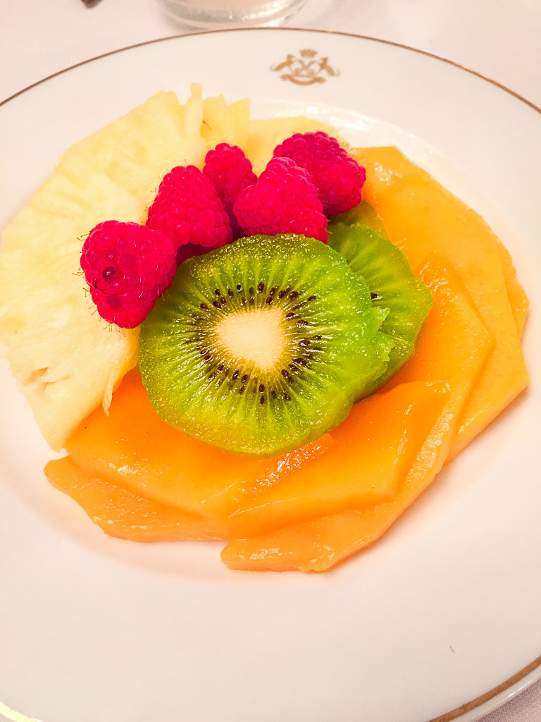 Course 1: Tropical Fruit Plate, 8/10