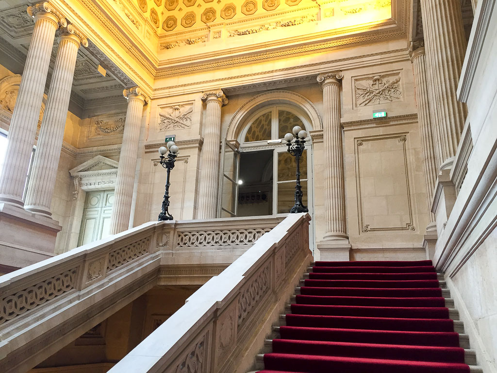 Entering the French Mint, en route to Guy Savoy