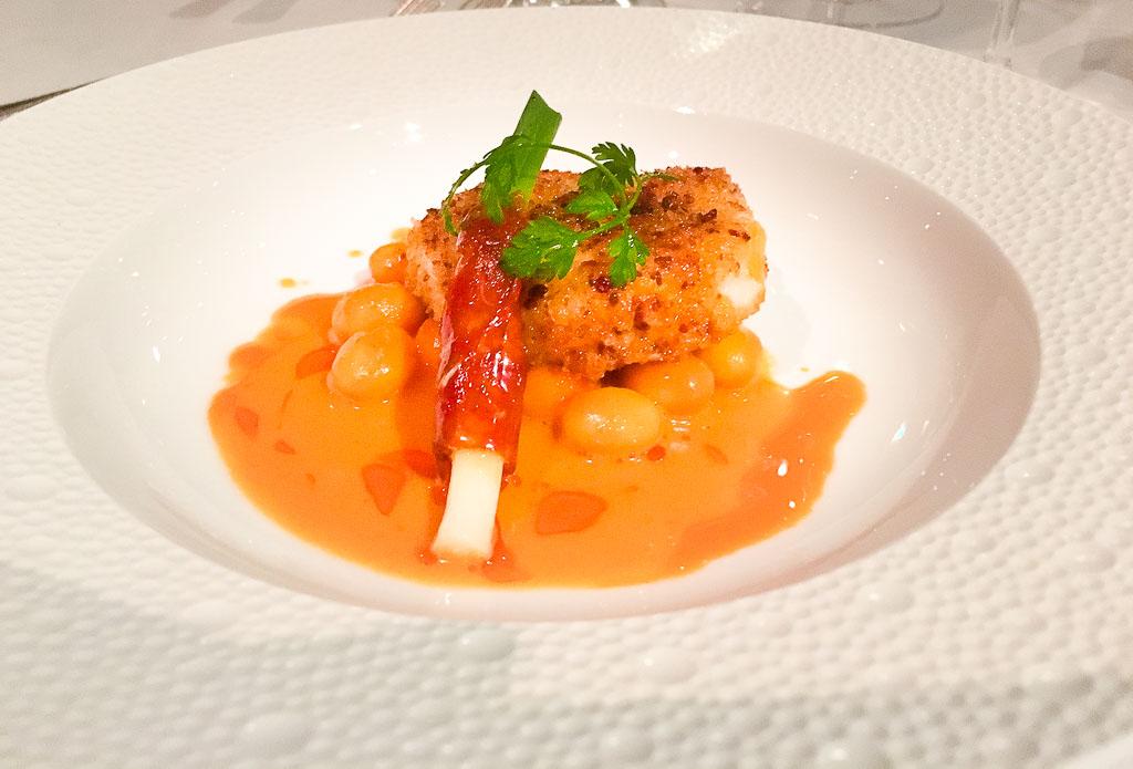 Course 4: Breaded Monkfish + Coq Au Vin, 9/10