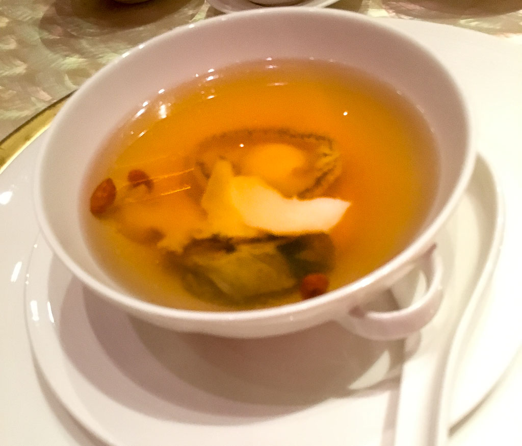 Course 3: Sea Whelk + Abalone + Red Date Soup, 5/10