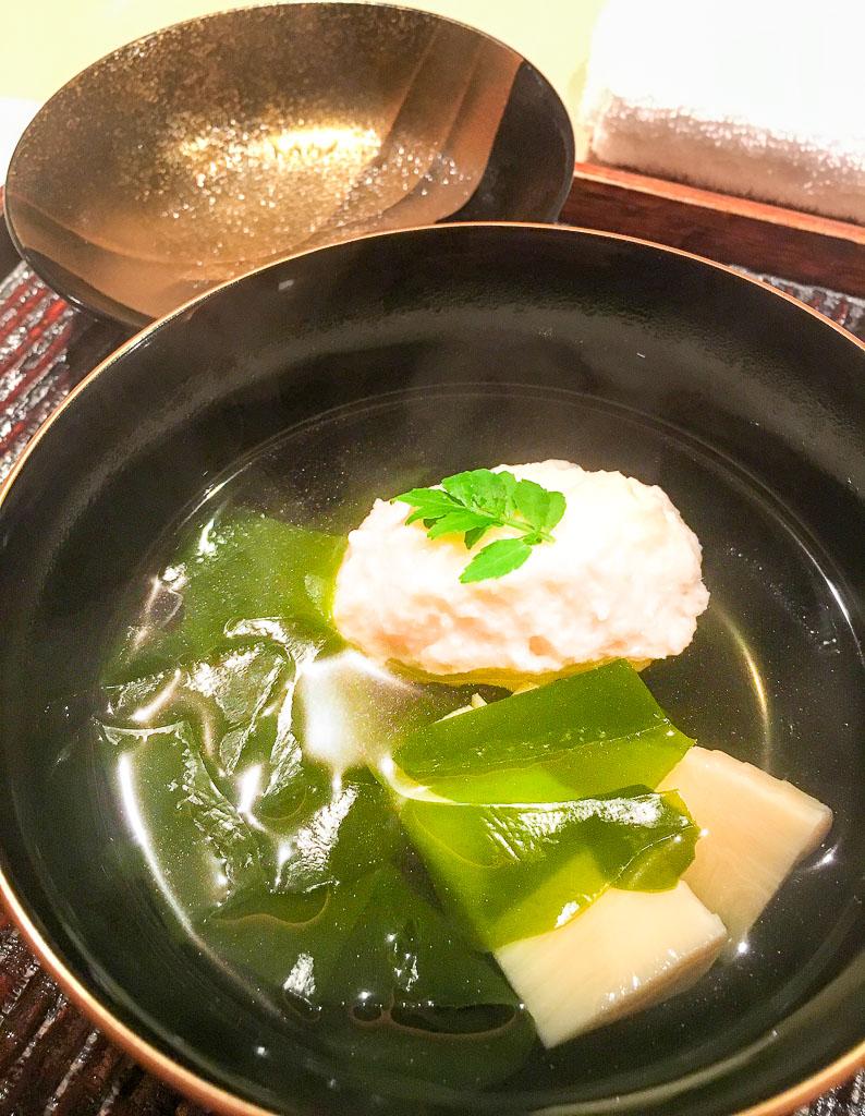 Course 2: Scallop Dumpling Soup, 8/10