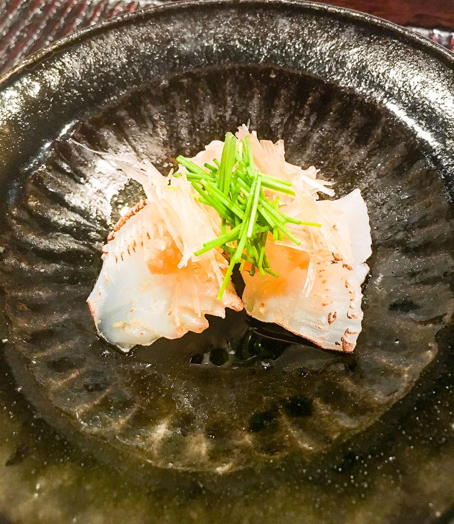 Course 3B: Lightly Seared Squid Sashimi, 9/10