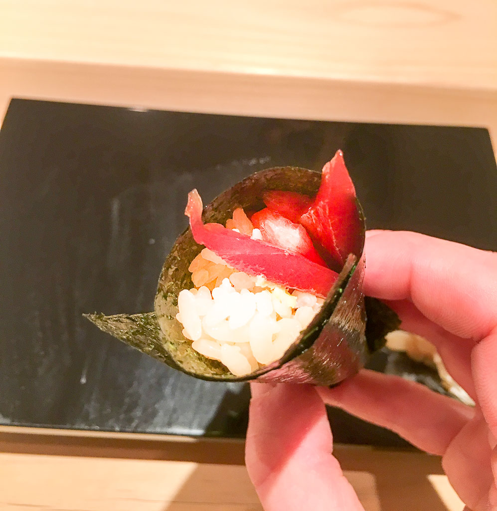Course 18: Tuna Hand Roll, 9/10