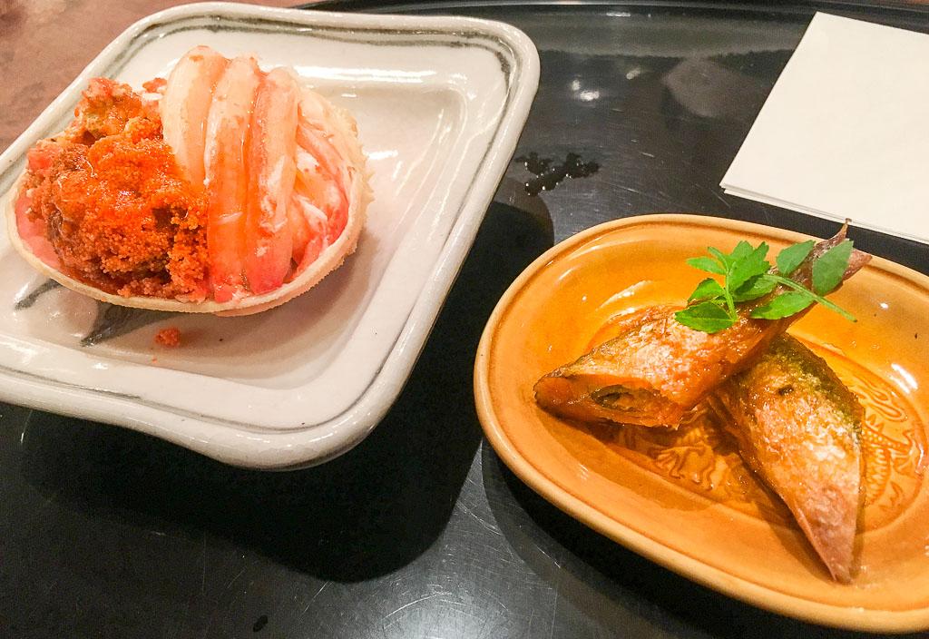 Course 1: Snow Crab + Honmaroko Minnow, 5/10