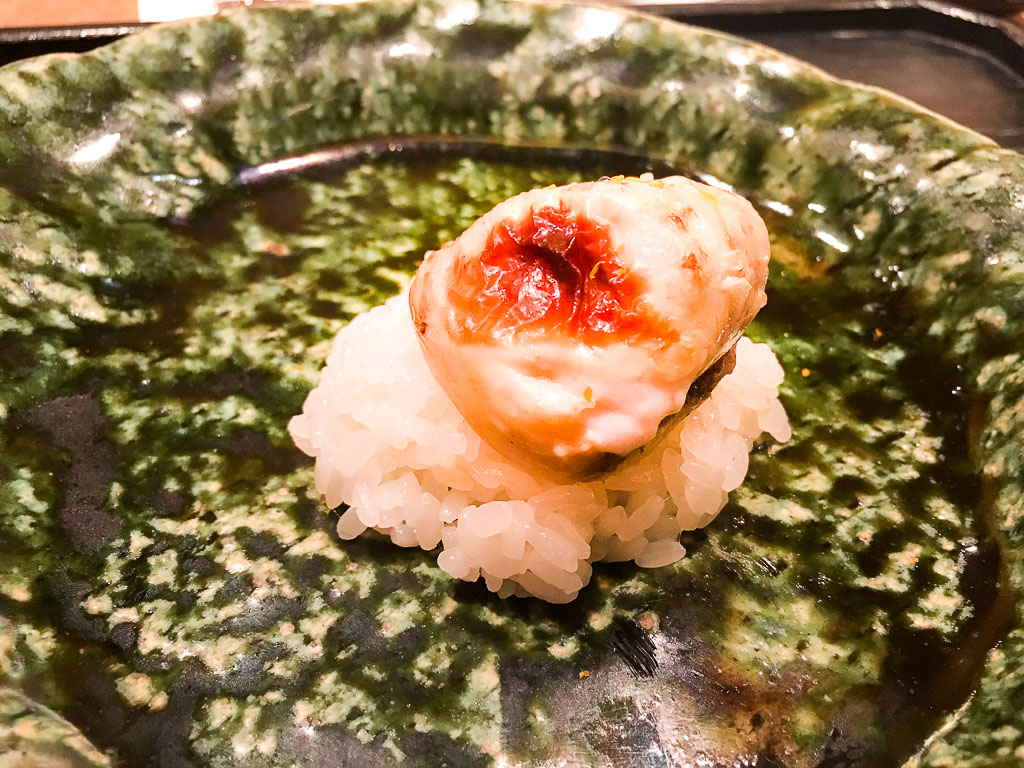 Course 3: Pufferfish + Sticky Rice, 7/10
