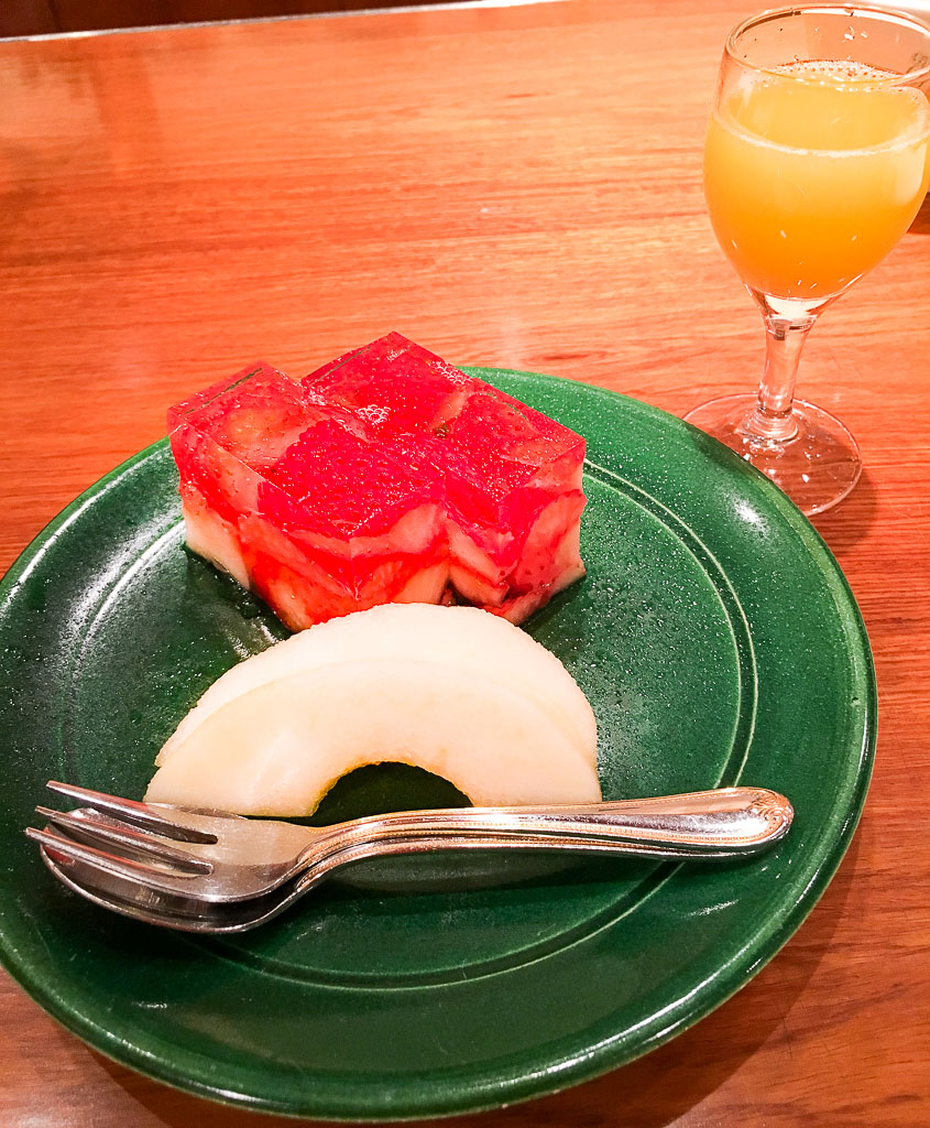 Course 9: Strawberry Jelly + Pear + Orange Juice, 9/10