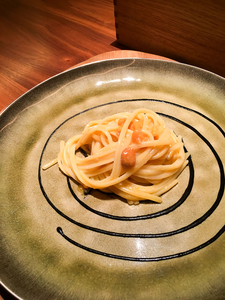 Course 3: Sea Urchin + Squid Ink Sauce + Linguine, 8/10