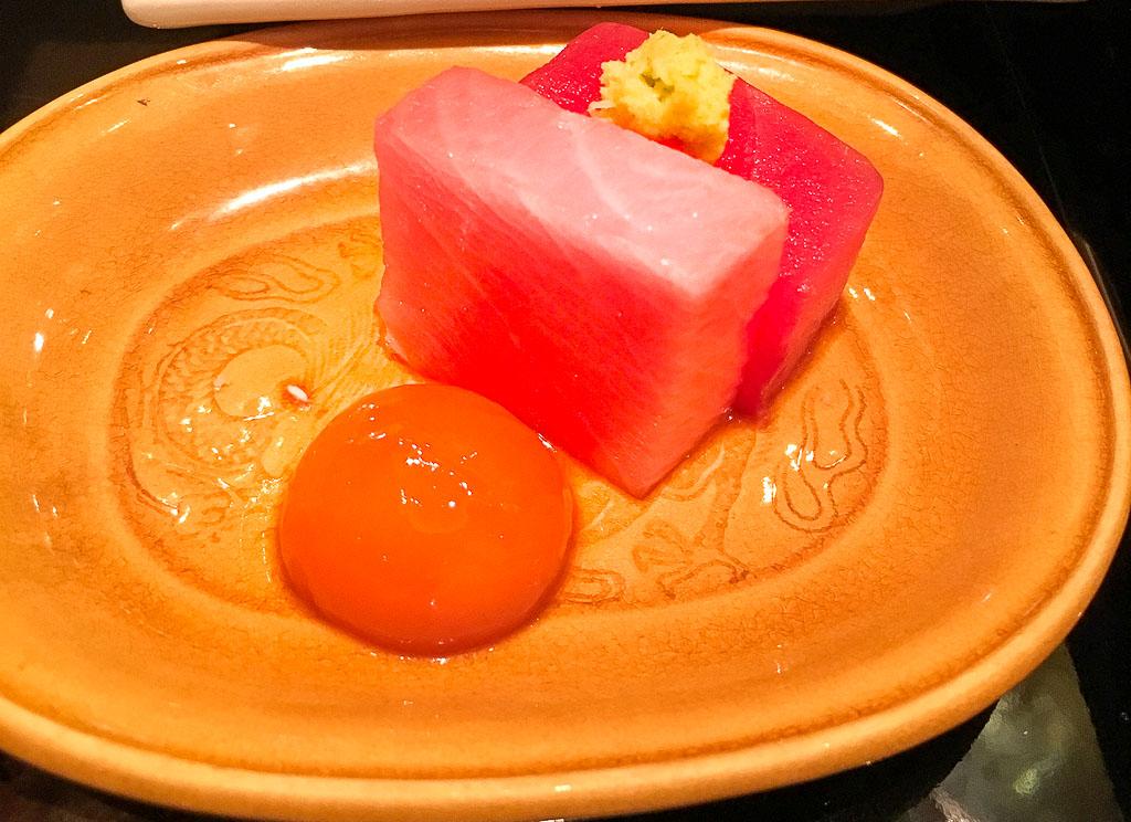 Course 2C: Otoro + Egg Yolk, 10/10