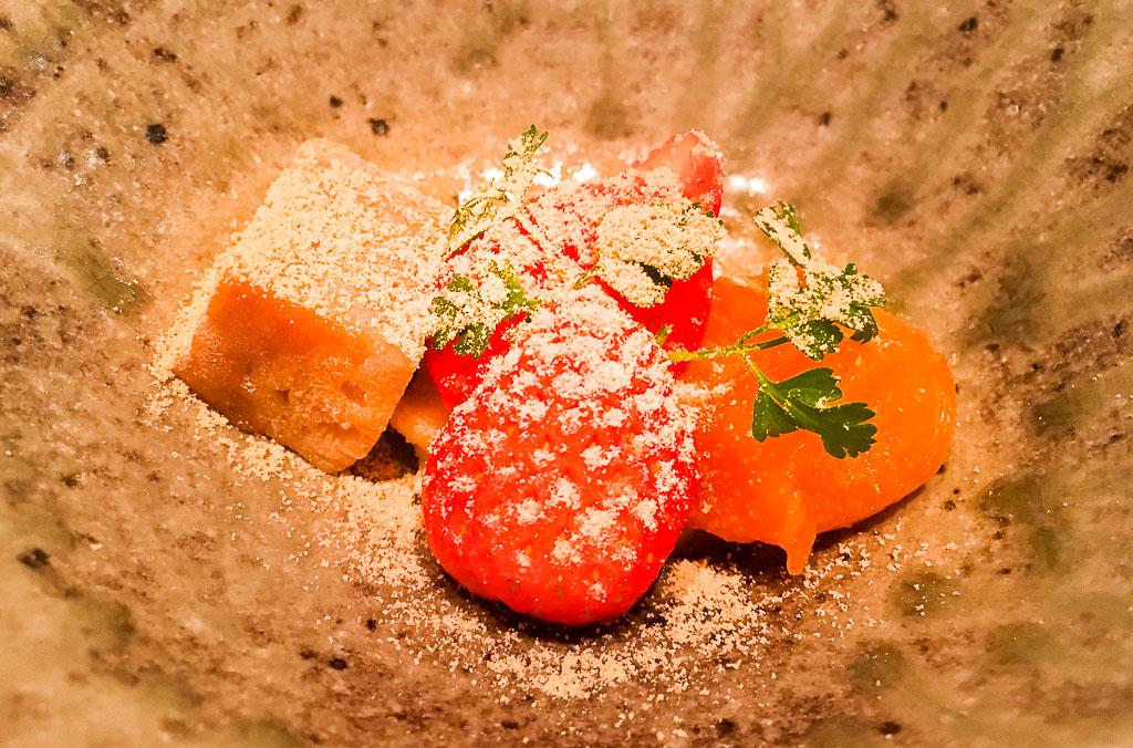 Course 9: Strawberry + Kumquat + Lily Bulb Mochi, 9/10