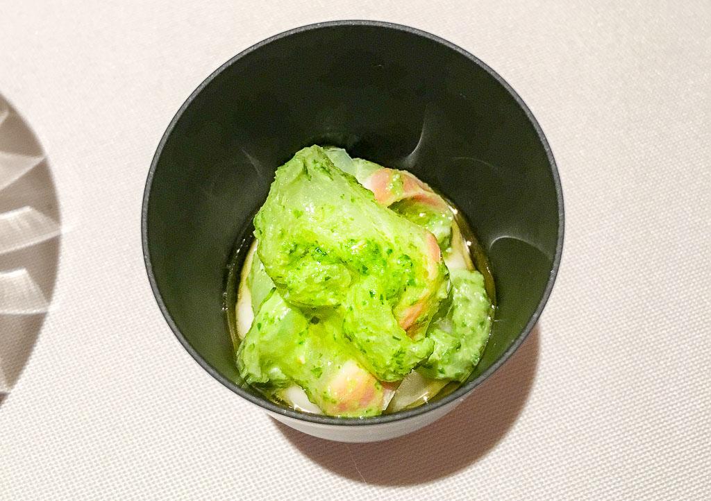 Course 2A: Snapper + White Bean + Pesto, 9/10