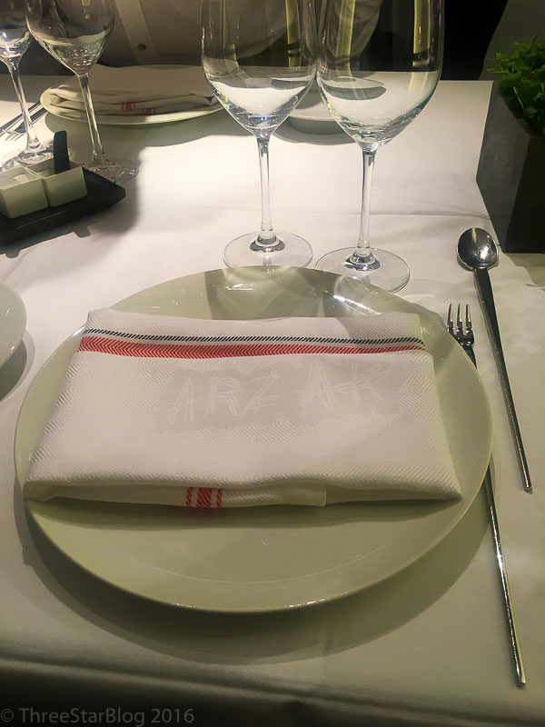 Arzak Place Setting