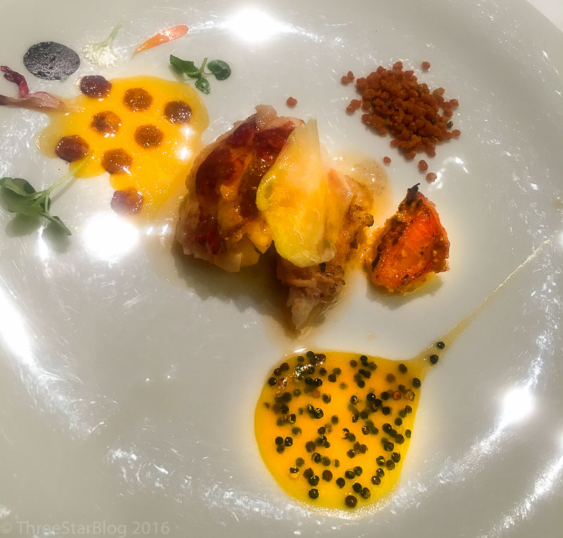 Course 2: Lobster + Bee Pollen, 9/10