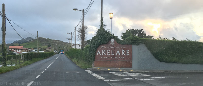 Akelarre Entrance From The Coastal Highway